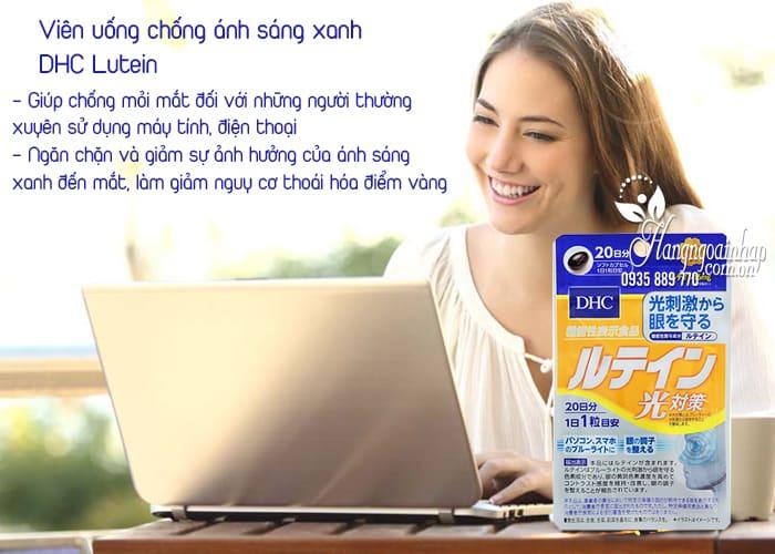 Viên uống chống ánh sáng xanh DHC Lutein Nhật gói 20 ngày 2