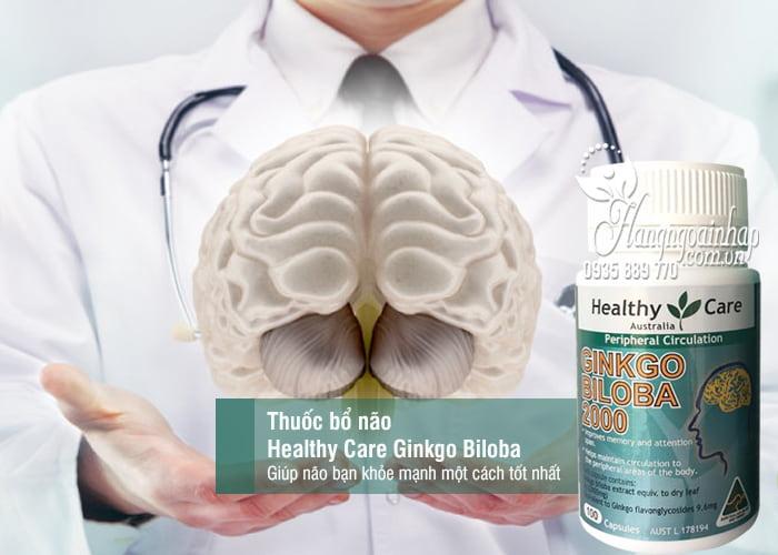 Thuốc bổ não Healthy Care Ginkgo Biloba 2000mg 100 viên của Úc 1