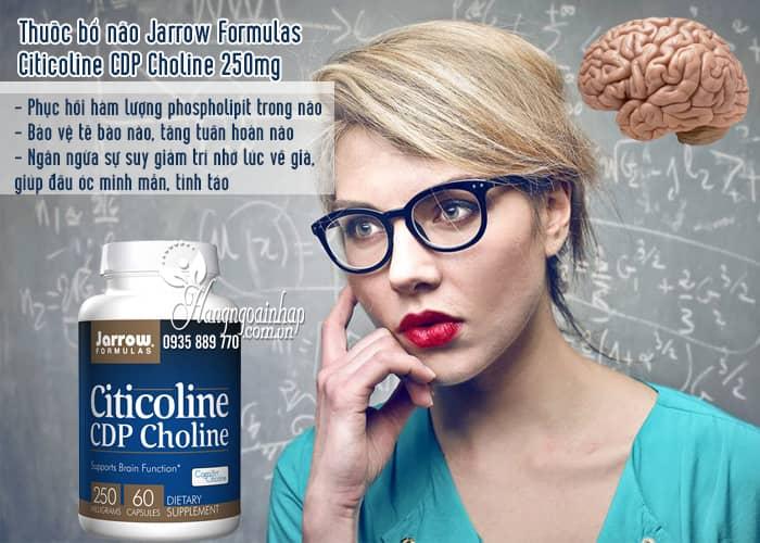Thuốc bổ não Jarrow Formulas Citicoline CDP Choline 250mg 2