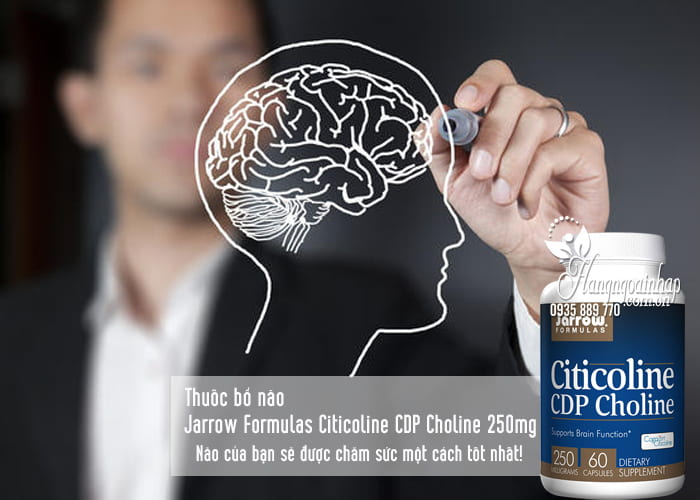 Thuốc bổ não Jarrow Formulas Citicoline CDP Choline 250mg 1