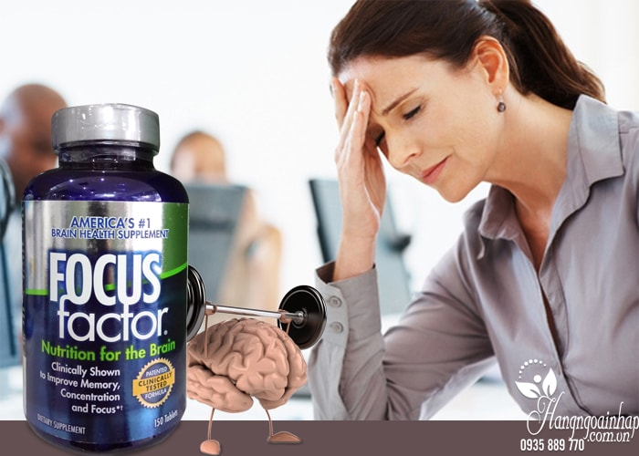 Viên Uống bổ não tăng cường trí nhớ giảm stress Focus Factor của mỹ hộp 150 viên