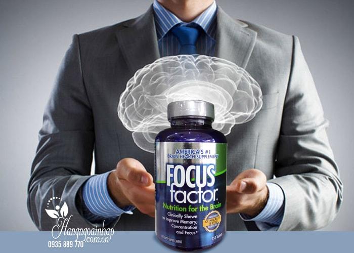 Viên Uống bổ não tăng cường trí nhớ giảm stress Focus Factor 150 viên của mỹ