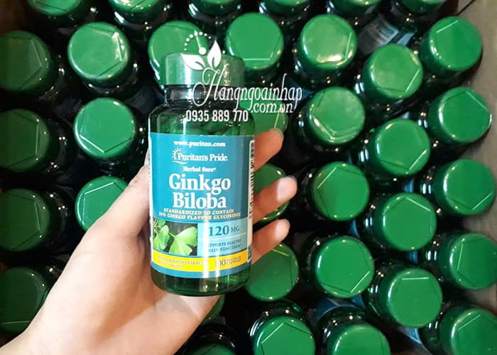Viên uống Ginkgo Biloba 120mg Puritan's Pride 100 Viên của mỹ 3