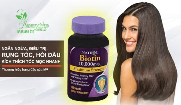 Thuốc Chống Rụng Tóc Biotin 10.000mcg Natrol Của Mỹ