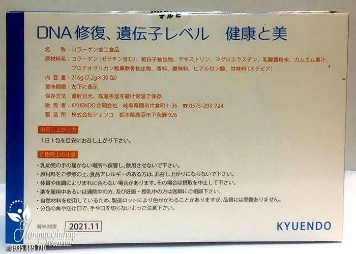 Bột uống trắng da Marubi Collagen Kyuendo của Nhật gói 7g 4