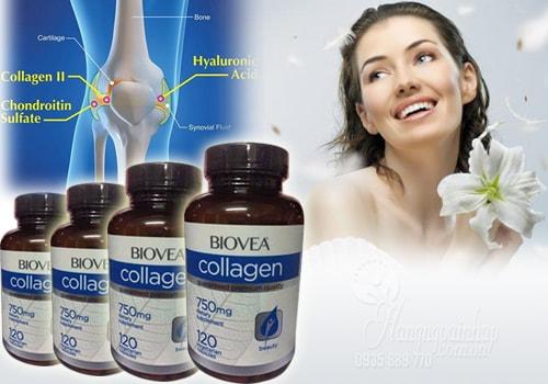Collagen Biovea 750mg làm đẹp da, bổ xương khớp 120 viên của Mỹ