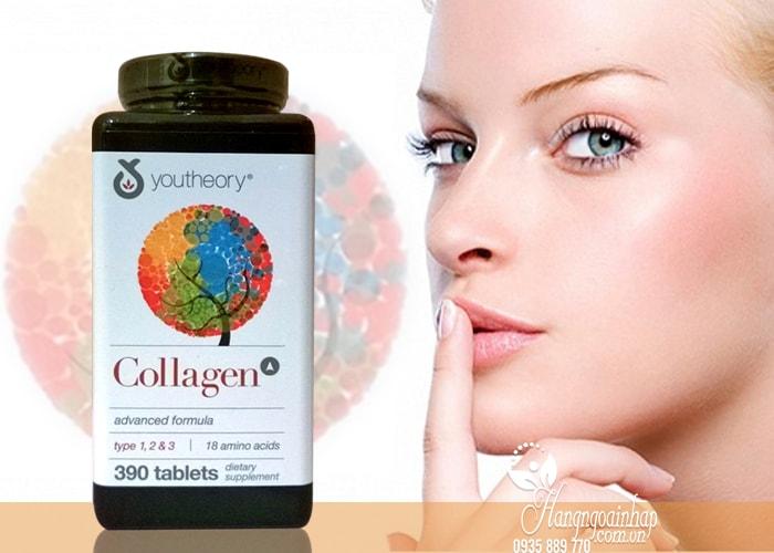 Collagen Youtheory Type 1 2 & 3 390 Viên Của Mỹ