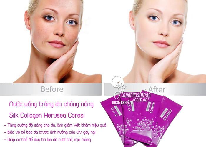 Nước uống trắng da chống nắng Silk Collagen Herusea Coresi 2