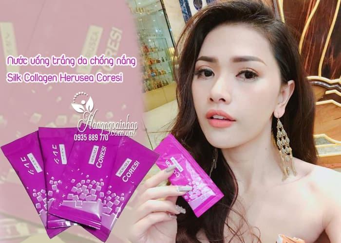 Nước uống trắng da chống nắng Silk Collagen Herusea Coresi 3