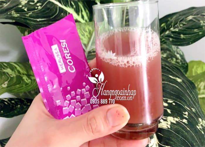 Nước uống trắng da chống nắng Silk Collagen Herusea Coresi 1