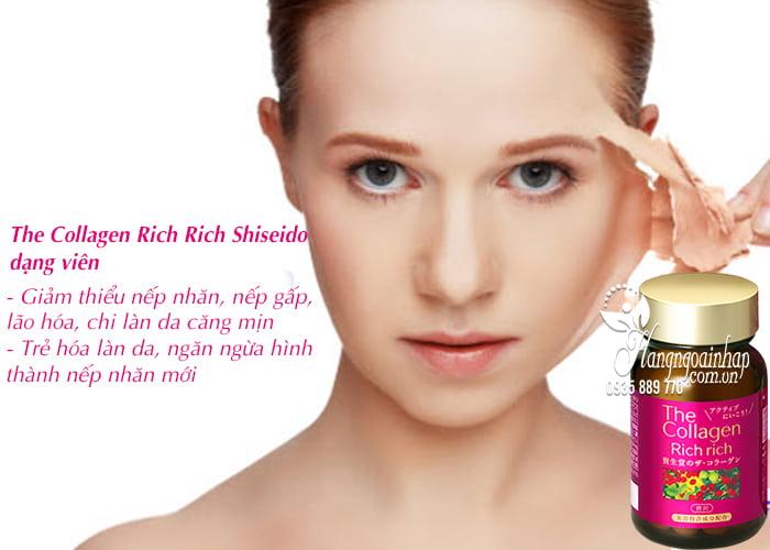 The Collagen Rich Rich Shiseido dạng viên của Nhật Bản 3