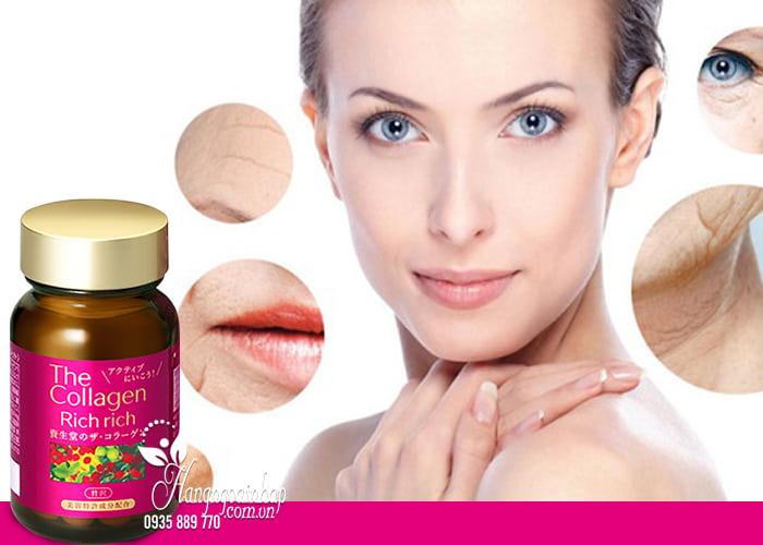 The Collagen Rich Rich Shiseido dạng viên của Nhật Bản 4