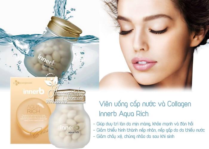 Viên uống cấp nước và Collagen Innerb Aqua Rich chính hãng 2