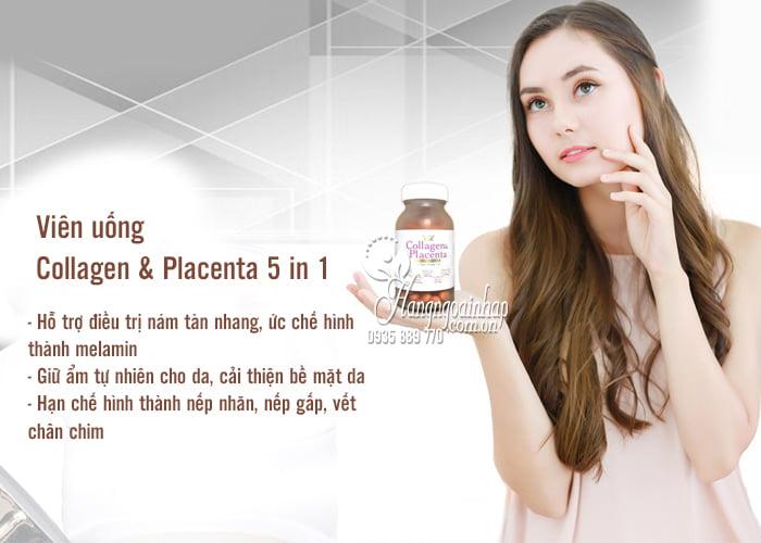 Viên uống Collagen & Placenta 5 in 1 Nhật Bản 270 viên 2
