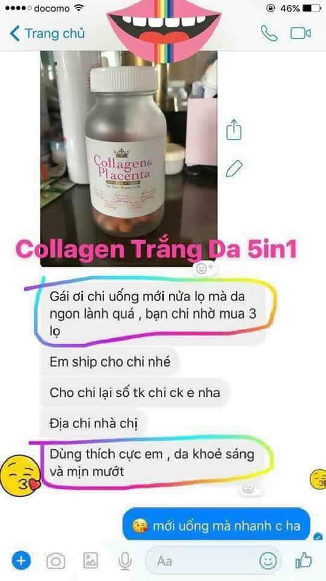 review Viên uống đẹp da collagen & placenta 5 in 1