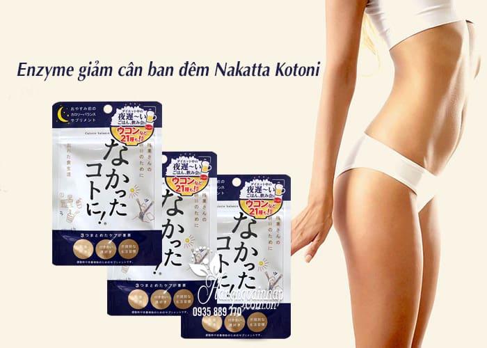 Enzyme giảm cân ban đêm Nakatta Kotoni Nhật Bản 30 viên 2