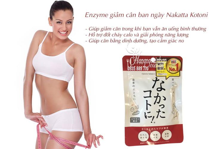 Enzyme giảm cân ban ngày Nakatta Kotoni 120 viên Nhật Bản 3