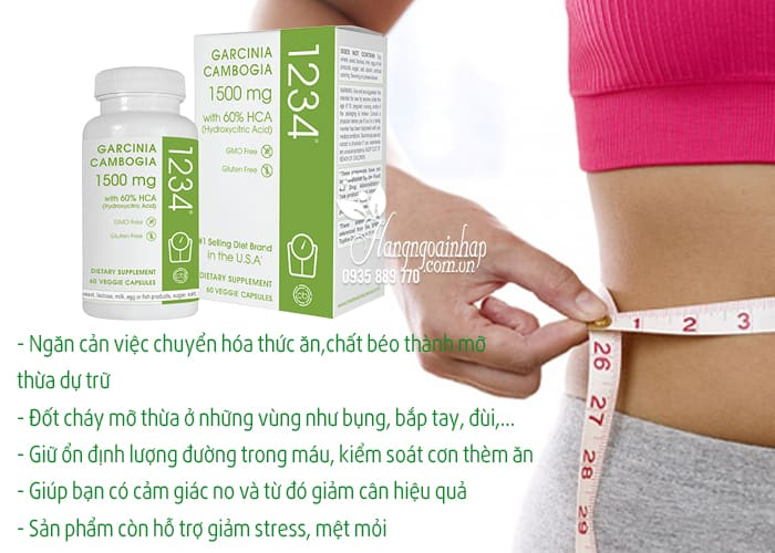 Garcinia Cambogia 1234 của Mỹ - Thuốc giảm cân tốt nhất 2