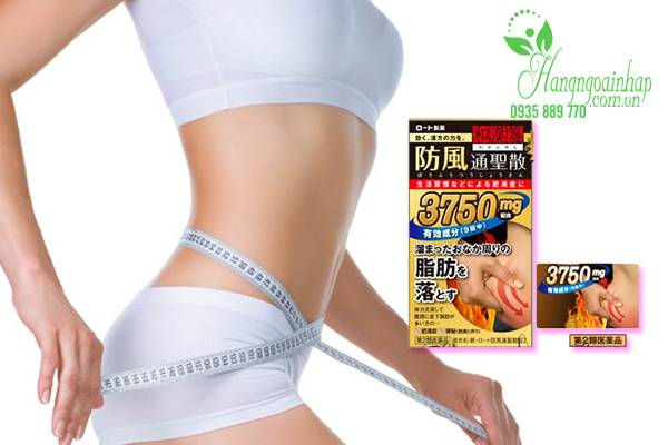 Thuốc giảm mỡ bụng Rohto 3750 của Nhật Bản hộp 126 viên