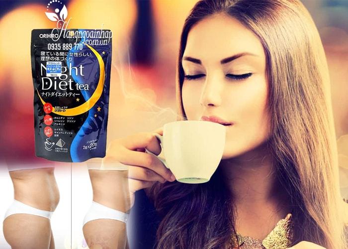 Trà giảm cân Orihiro Night Diet Tea 2g x 20 gói nhập từ Nhật Bản