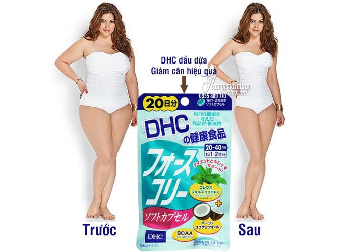 Viên uống giảm cân DHC dầu dừa 20 ngày của Nhật Bản 1
