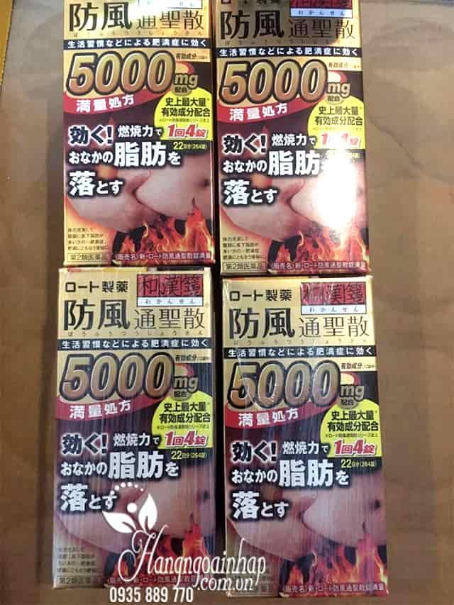 Viên uống giảm mỡ bụng Rohto 5000mg 264 viên của Nhật Bản 4