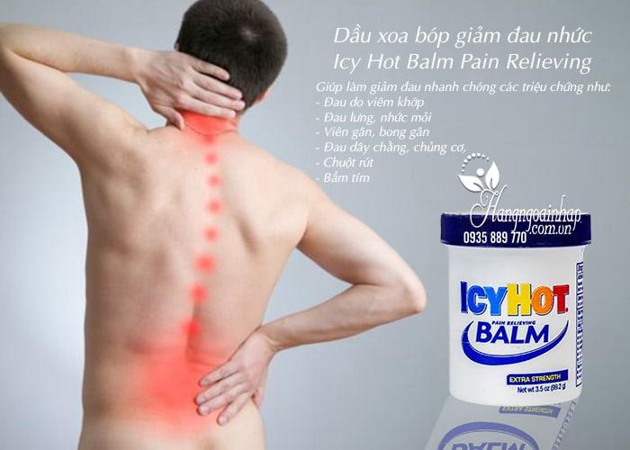 Dầu xoa bóp giảm đau nhức Icy Hot Balm Pain Relieving của Mỹ 4