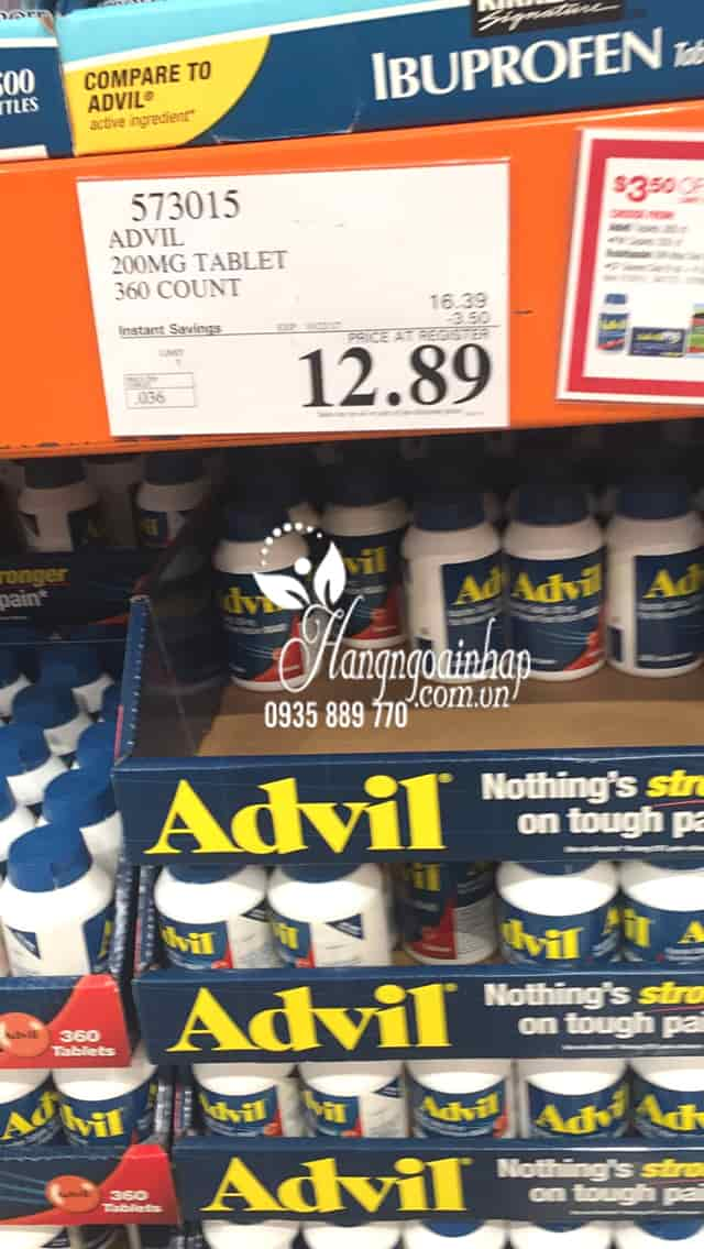 Thuốc giảm đau hạ sốt Advil 360 viên của Mỹ 5