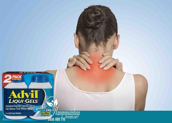 Thuốc uống giúp giảm đau hiệu quả Advil Liqui Gels của Mỹ