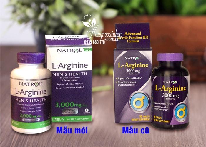 Natrol L-Arginine 3000mg 90 viên của Mỹ-Tăng cường sinh lý nam giới