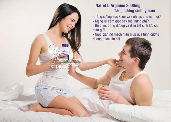 Natrol L-Arginine 3000mg 90 viên của Mỹ-Tăng cường sinh lý nam giới 2