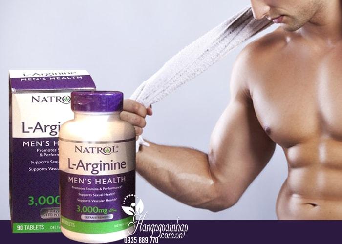 Natrol L-Arginine 3000mg hộp 90 viên của Mỹ - Thuốc tăng cường sinh lý nam giới