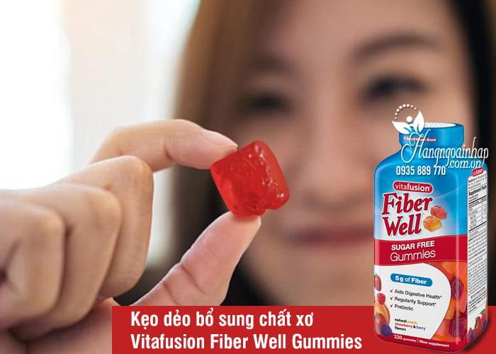 Kẹo dẻo bổ sung chất xơ Vitafusion Fiber Well Gummies 220v 1