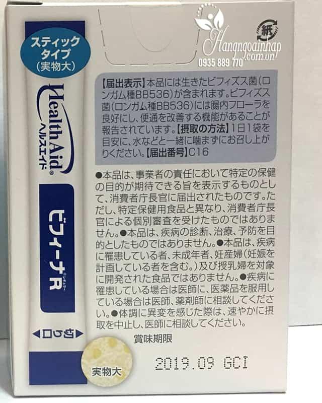 Men vi sinh Health Aid Bifina R 20 gói - Hỗ trợ tiêu hóa 5