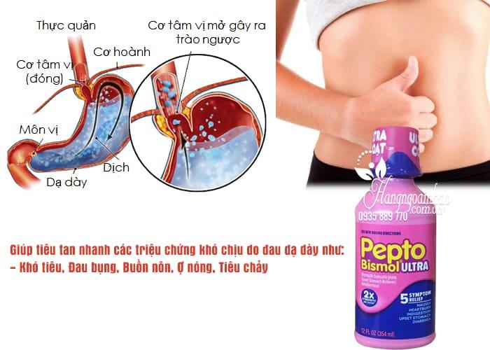 Siro chuyên trị tiêu hóa, dạ dày Pepto Bismol Ultra 354ml 2