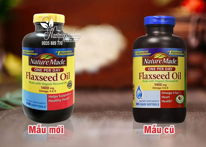 Dầu hạt lanh Omega 3 6 9 Flaxseed Oil Nature Made 1400mg Của Mỹ 1