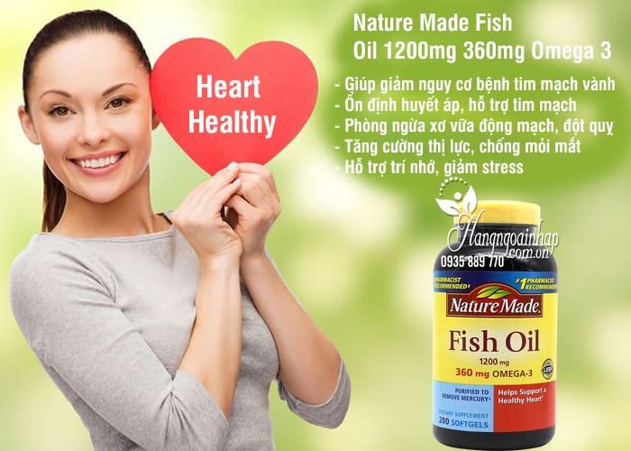 Nature Made Fish Oil 1200mg 360mg Omega 3 200 Viên 2