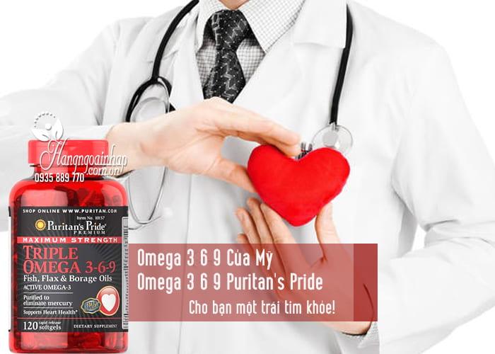 Omega 3 6 9 Của Mỹ - Omega 3 6 9 Puritan's Pride 120 Viên 2
