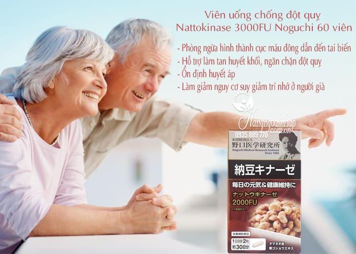 Viên uống chống đột quỵ Nattokinase 3000FU Noguchi 60 viên 4