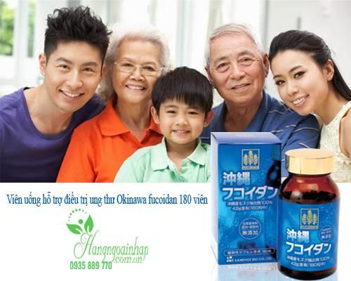 Viên uống hỗ trợ điều trị ung thư Okinawa fucoidan 180 viên của Nhật