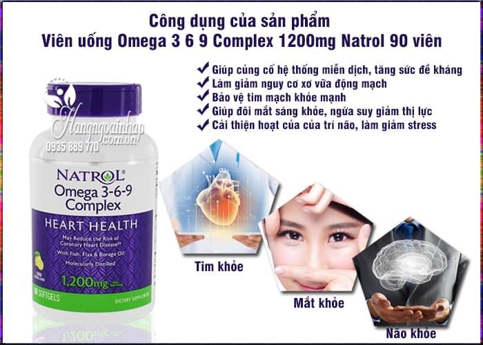 Viên uống Omega 3 6 9 Complex 1200mg Natrol 90 viên của Mỹ  5