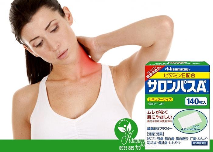 Cao dán giảm đau xương khớp Salonpas Hisamitsu 140 miếng tại Hàng Ngoại Nhập