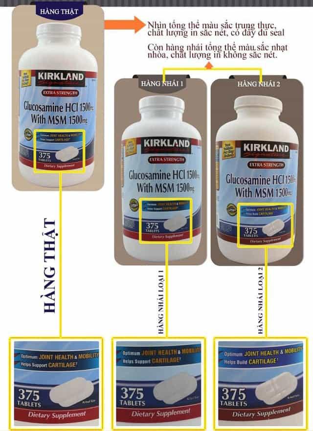 Glucosamine 375 Viên HCL 1500mg Kirkland Của Mỹ mẫu mới 2018 10