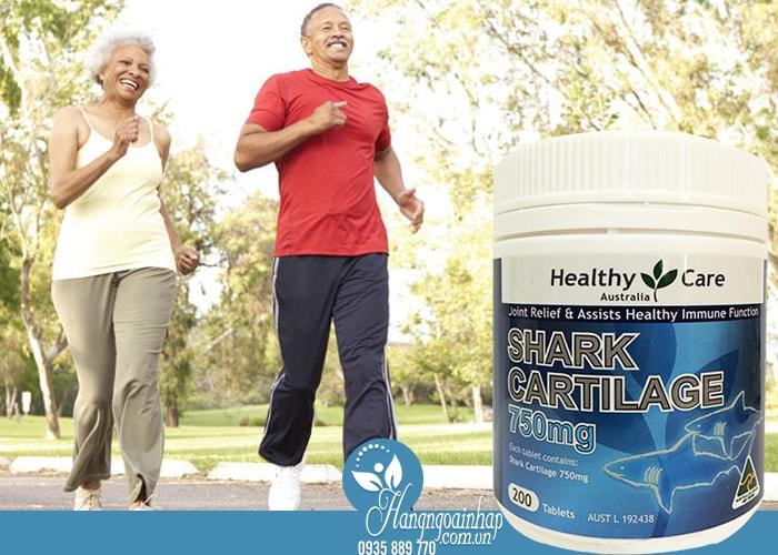 Sụn vi cá Healthy Care Shark Cartilage 750mg của Úc