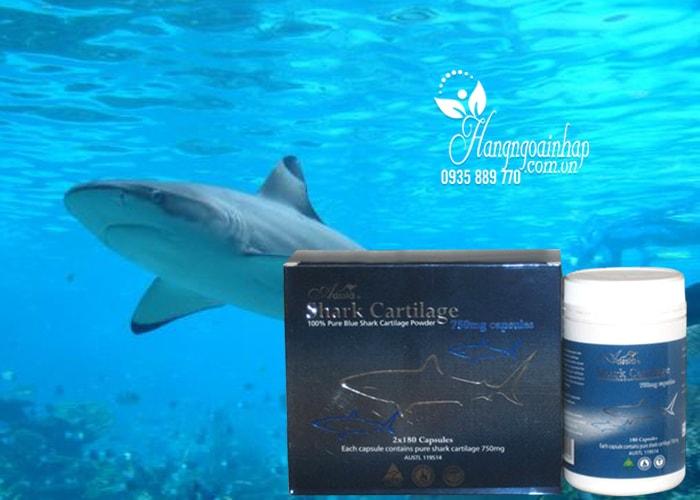 Sụn vi cá Mập Aussia Shark Cartilage 750mg 2 lọ x 180 viên của Úc