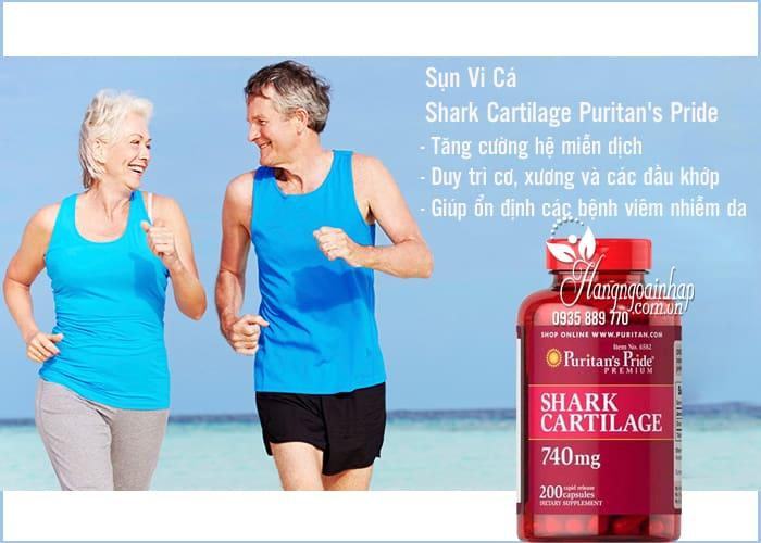 Sụn Vi Cá Shark Cartilage Puritan's Pride 740mg 200 Viên 2