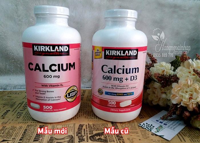 Viên Calcium 600mg With Vitamin D 500 Viên Của Kirkland