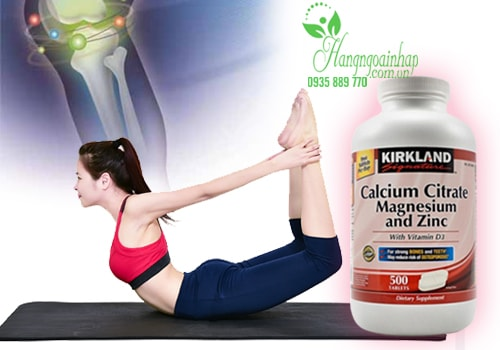 Viên uống Kirkland Calcium Citrate Magnesium and Zinc 500 viên của Mỹ