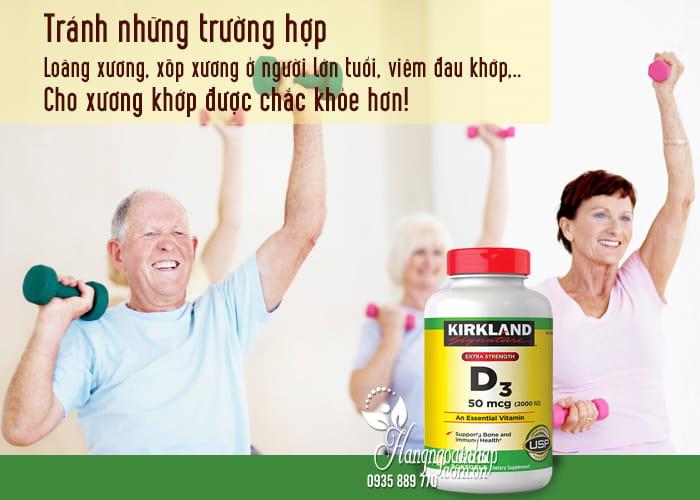 Viên uống Vitamin D3 Kirkland Extra Strength D3 50mcg của Mỹ 1