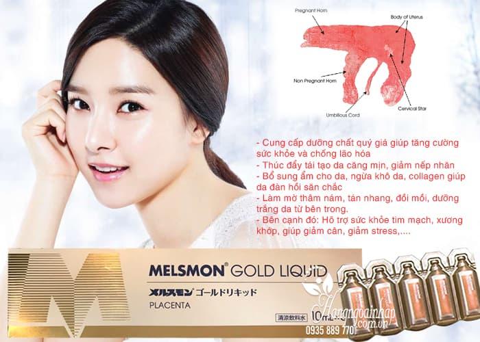 Nước uống nhau thai ngựa Melsmon Gold Liquid Nhật Bản 2